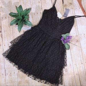 *New* Abercrombie & Fitch black ruffle dress
